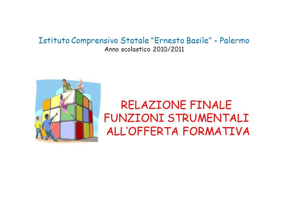 Istituto Comprensivo Statale Ernesto Basile - Palermo Anno scolastico 2010/2011 RELAZIONE FINALE FUNZIONI STRUMENTALI ALLOFFERTA FORMATIVA