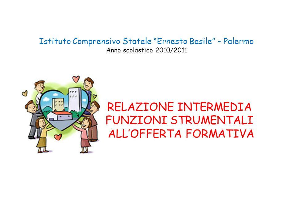 Istituto Comprensivo Statale Ernesto Basile - Palermo Anno scolastico 2010/2011 RELAZIONE INTERMEDIA FUNZIONI STRUMENTALI ALLOFFERTA FORMATIVA
