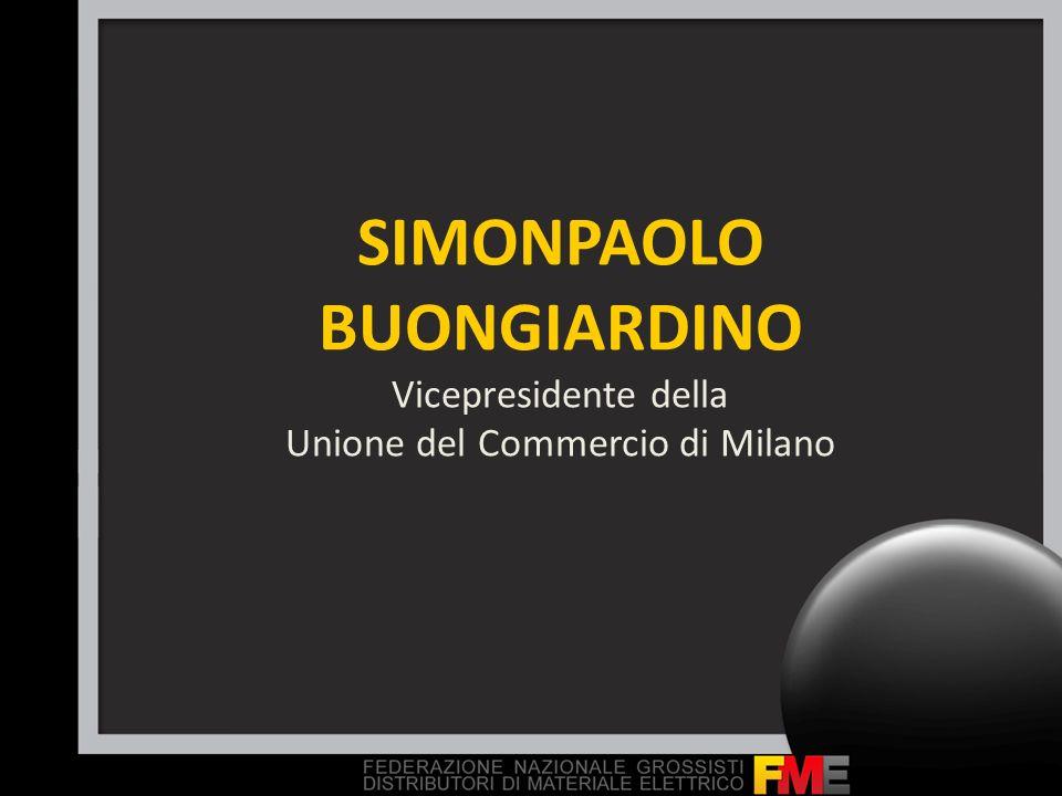 SIMONPAOLO BUONGIARDINO Vicepresidente della Unione del Commercio di Milano