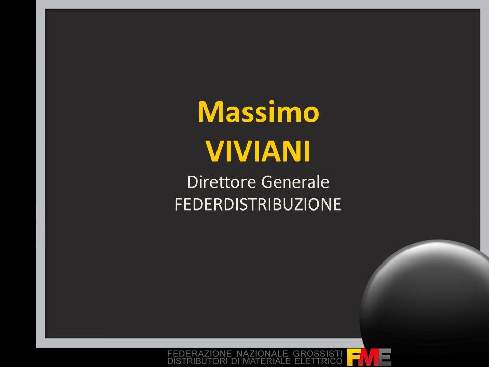 Massimo VIVIANI Direttore Generale FEDERDISTRIBUZIONE