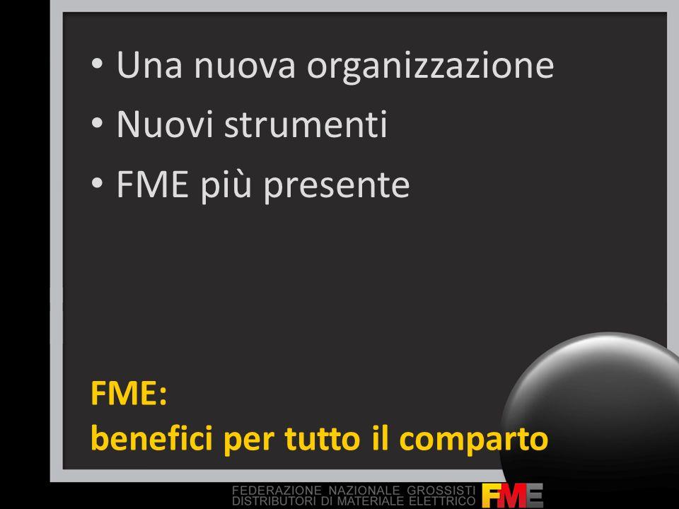 FME: benefici per tutto il comparto Una nuova organizzazione Nuovi strumenti FME più presente