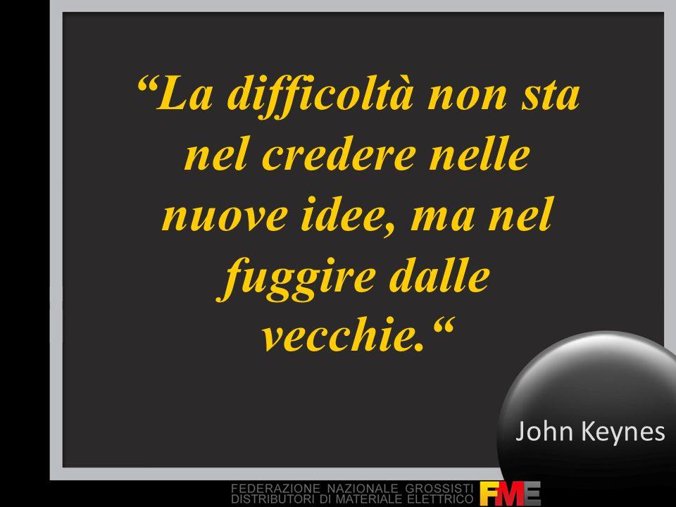 La difficoltà non sta nel credere nelle nuove idee, ma nel fuggire dalle vecchie. John Keynes