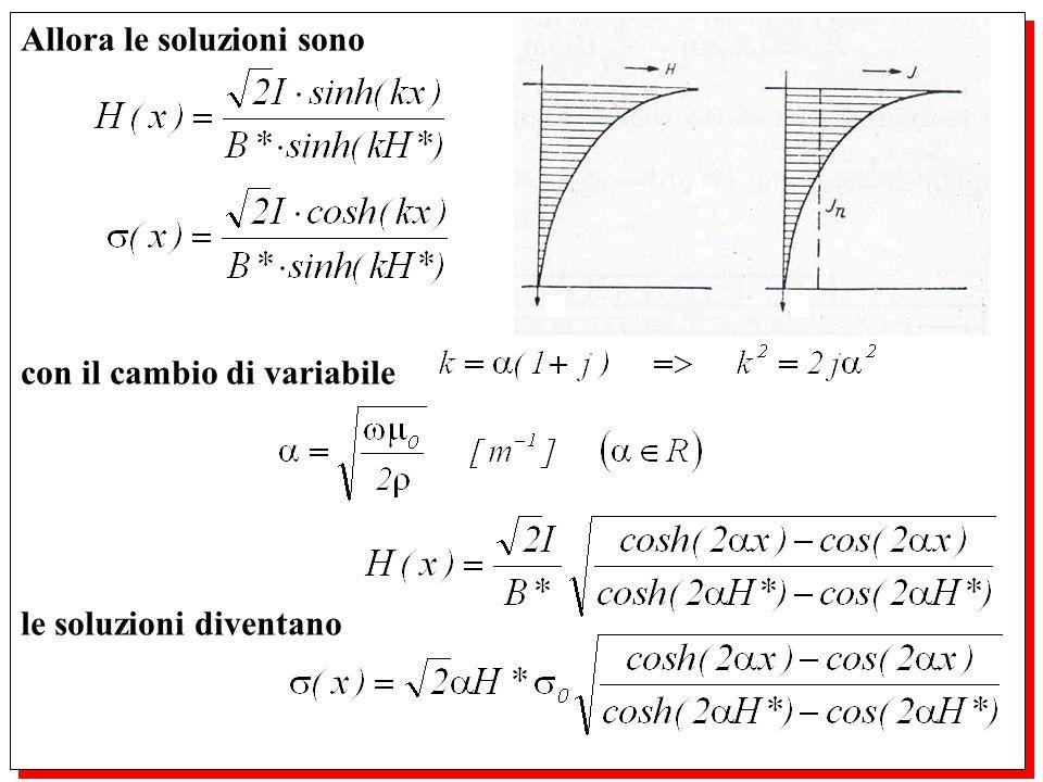Allora le soluzioni sono con il cambio di variabile le soluzioni diventano Allora le soluzioni sono con il cambio di variabile le soluzioni diventano