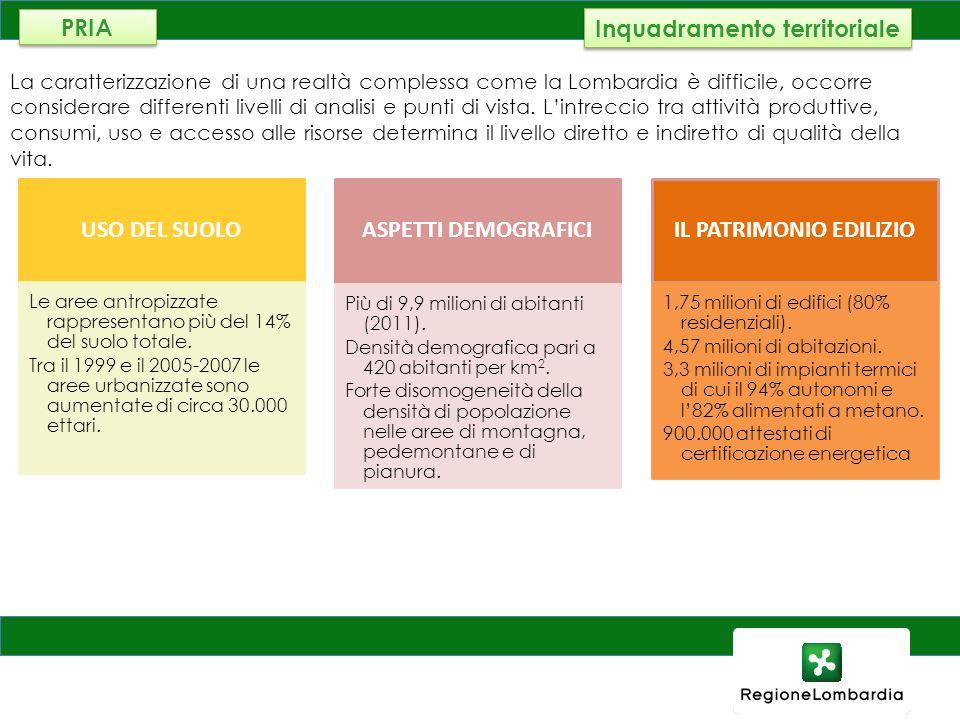 AMBIENTE, ENERGIA E RETI La caratterizzazione di una realtà complessa come la Lombardia è difficile, occorre considerare differenti livelli di analisi
