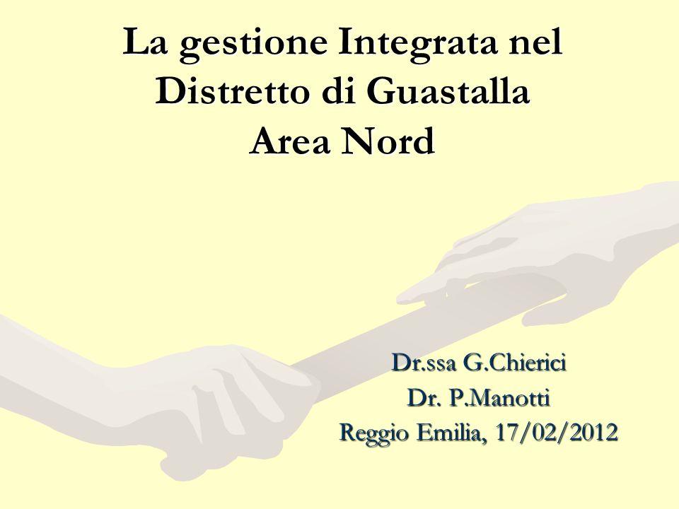 La gestione Integrata nel Distretto di Guastalla Area Nord Dr.ssa G.Chierici Dr.