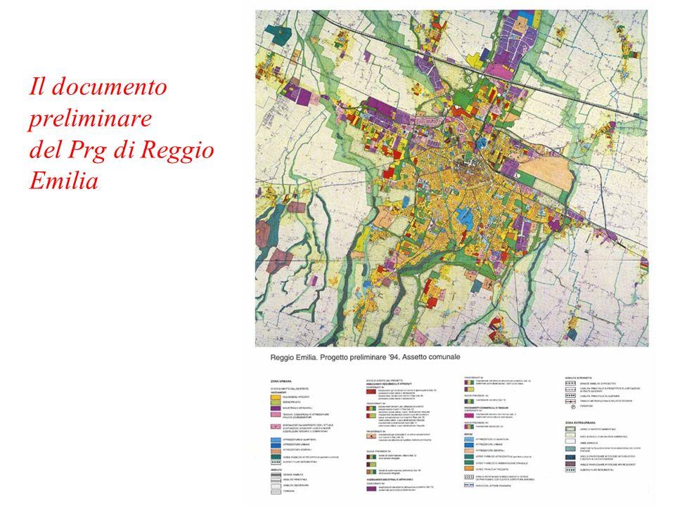 Il documento preliminare del Prg di Reggio Emilia