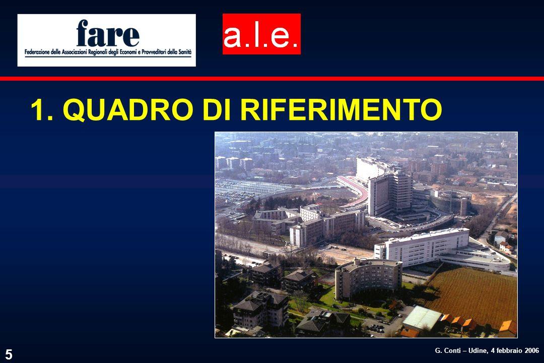 G. Conti – Udine, 4 febbraio 2006 5 1. QUADRO DI RIFERIMENTO