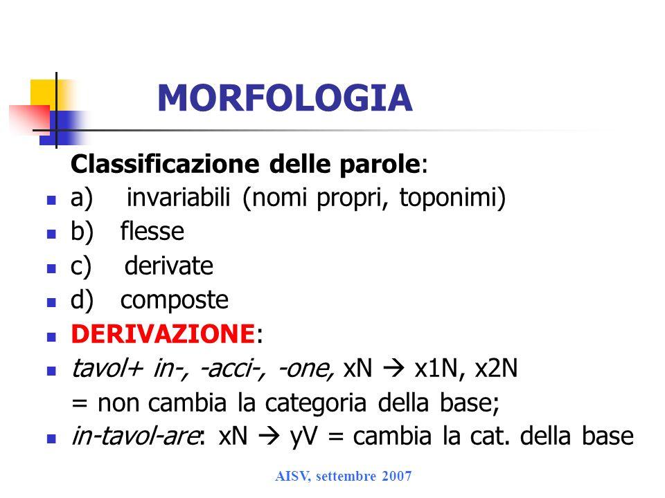 AISV, settembre 2007 Roma 1) rotacizzazione di liquida laterale alveolare davanti a consonante [al tsa:re] > [ar tsa:re], [al ki:lo]>[ar ki:lo] anche nel Lazio e in Campania 2) riduzione di /r/ doppia a scempia birra > bira, terra > tera 3) riduzione dittongo /w / > / / (cf.