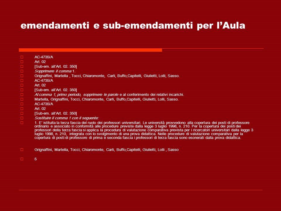 emendamenti e sub-emendamenti per lAula AC-4735/A Art. 02 [Sub-em. allArt. 02. 350] Sopprimere il comma 1. Grignaffini, Martella, Tocci, Chiaromonte,