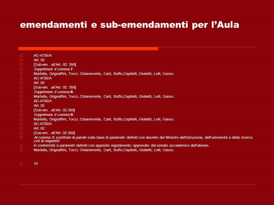 emendamenti e sub-emendamenti per lAula AC-4735/A Art. 02 [Sub-em. allArt. 02. 350] Sopprimere il comma 7. Martella, Grignaffini, Tocci, Chiaromonte,