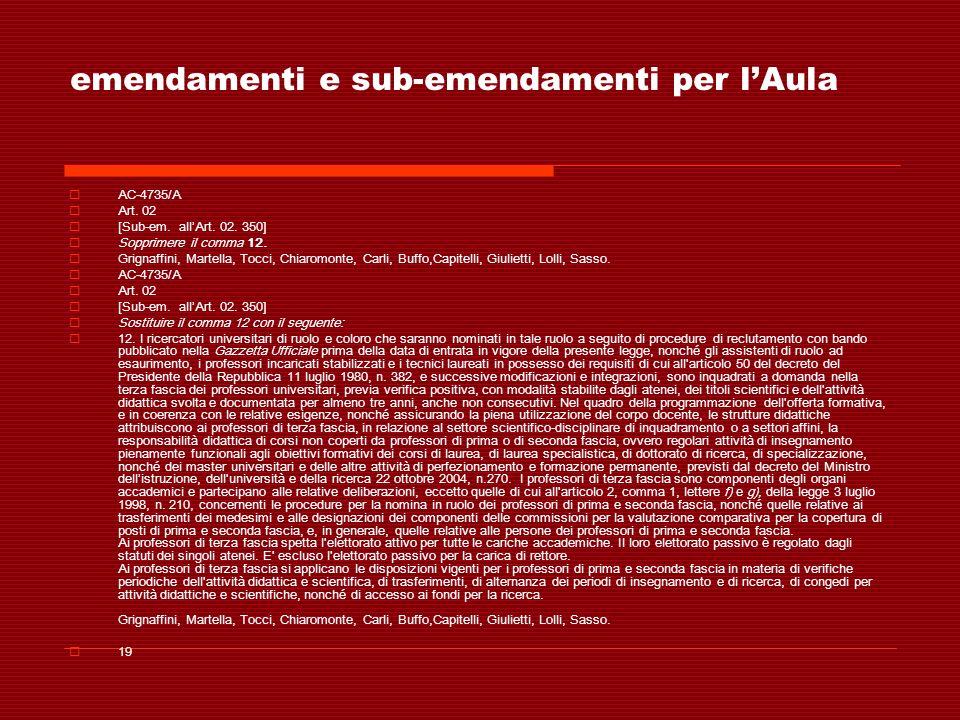 emendamenti e sub-emendamenti per lAula AC-4735/A Art. 02 [Sub-em. allArt. 02. 350] Sopprimere il comma 12. Grignaffini, Martella, Tocci, Chiaromonte,