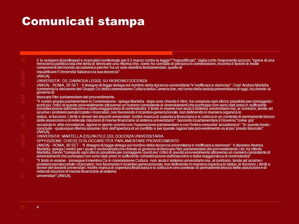 Comunicati stampa E lo sciopero di professori e ricercatori confermato per il 2 marzo contro la legge? ''Ingiustificato'', taglia corto l'esponente az