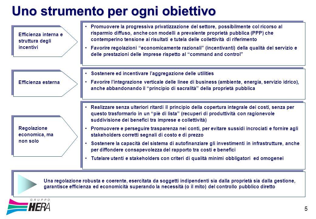 5 Promuovere la progressiva privatizzazione del settore, possibilmente col ricorso al risparmio diffuso, anche con modelli a prevalente proprietà pubb