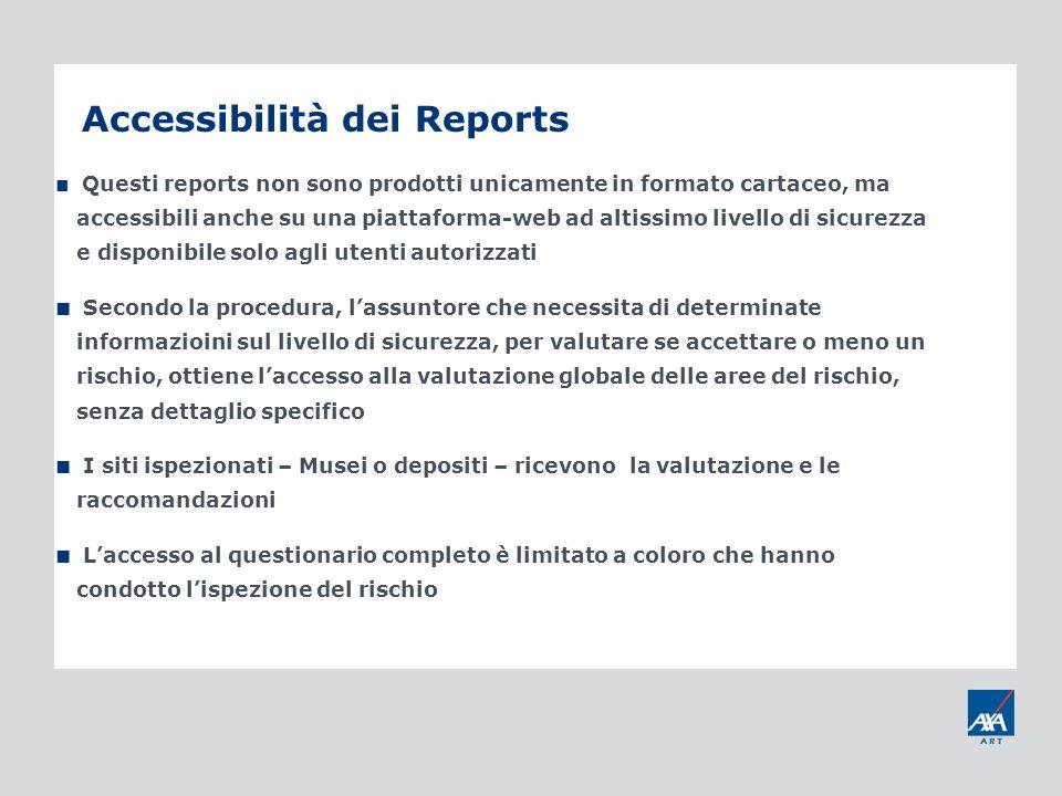Accessibilità dei Reports Questi reports non sono prodotti unicamente in formato cartaceo, ma accessibili anche su una piattaforma-web ad altissimo li