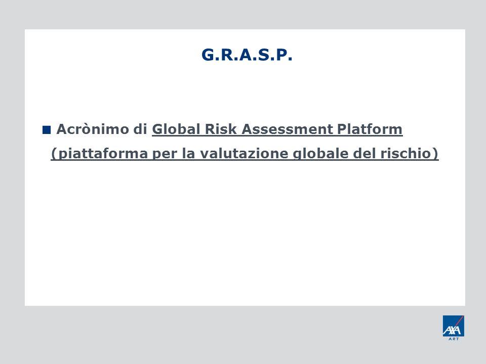 G.R.A.S.P. Acrònimo di Global Risk Assessment Platform (piattaforma per la valutazione globale del rischio)