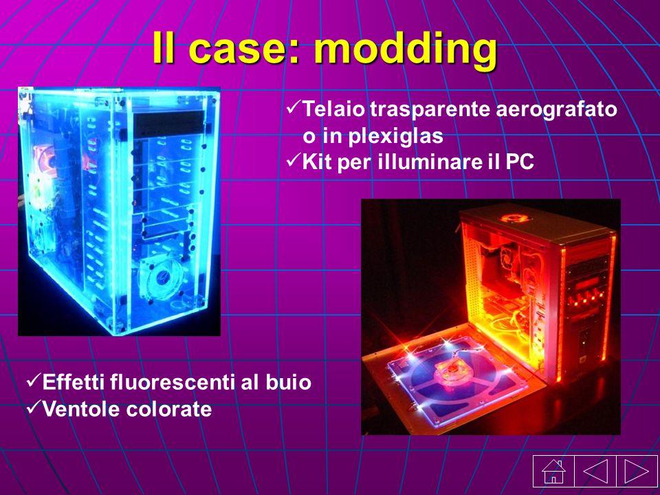 Il case: modding Telaio trasparente aerografato o in plexiglas Kit per illuminare il PC Effetti fluorescenti al buio Ventole colorate