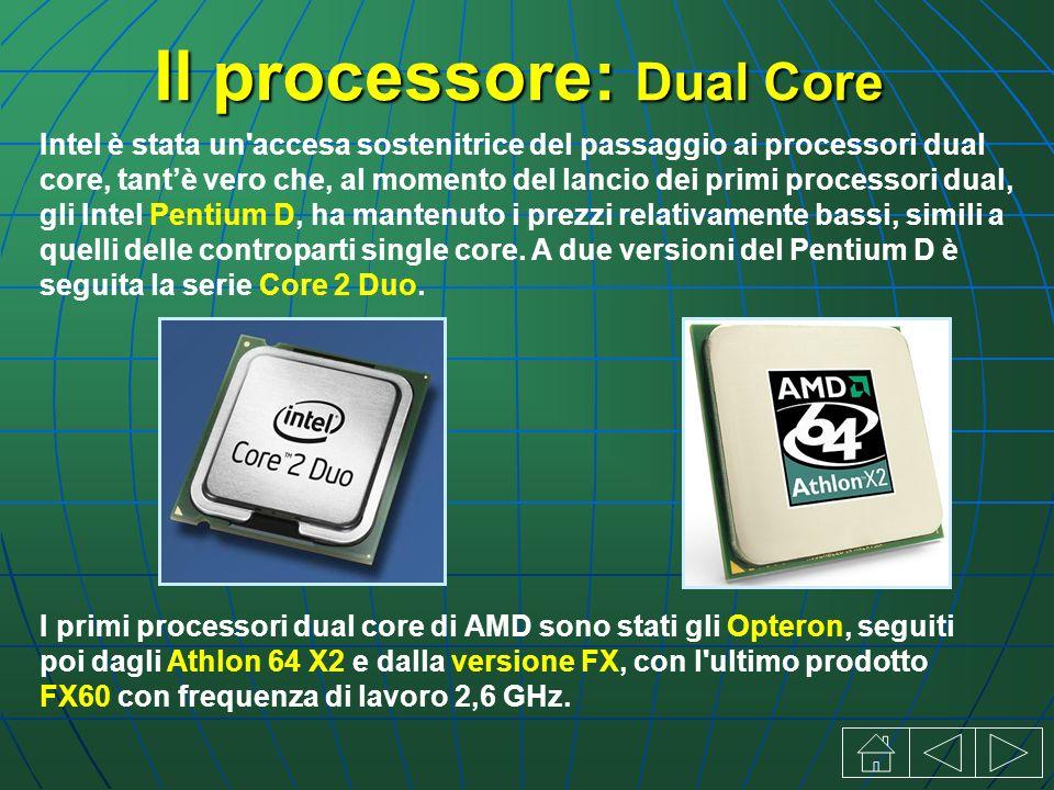 Il processore: Dual Core Intel è stata un accesa sostenitrice del passaggio ai processori dual core, tantè vero che, al momento del lancio dei primi processori dual, gli Intel Pentium D, ha mantenuto i prezzi relativamente bassi, simili a quelli delle controparti single core.
