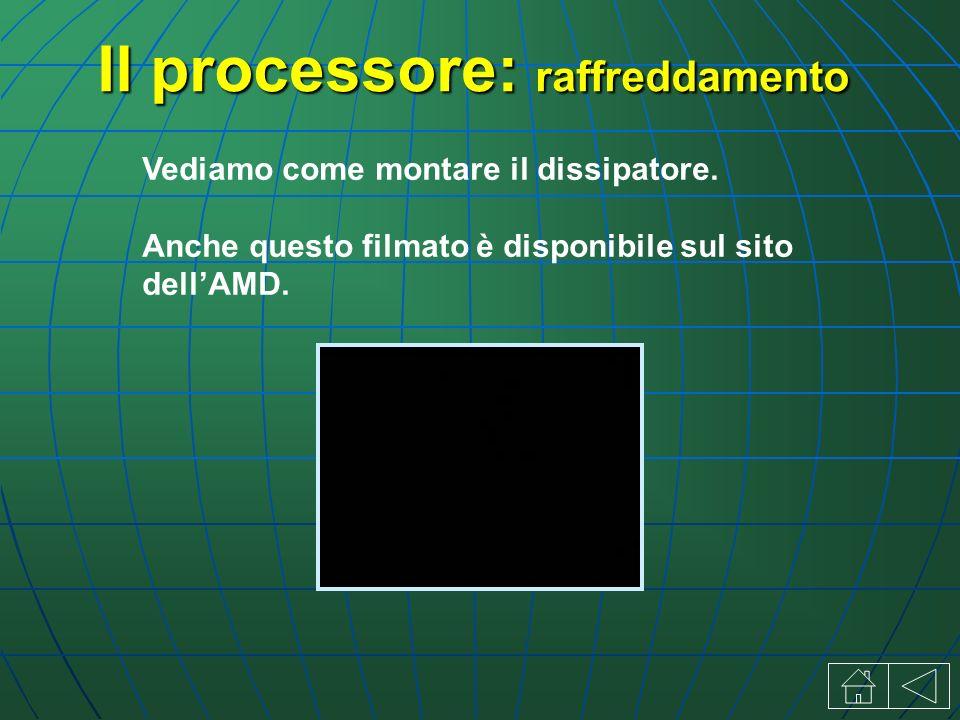 Il processore: raffreddamento Vediamo come montare il dissipatore.