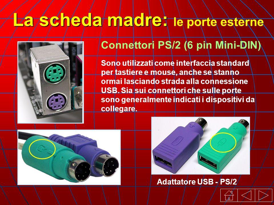 Sono utilizzati come interfaccia standard per tastiere e mouse, anche se stanno ormai lasciando strada alla connessione USB.