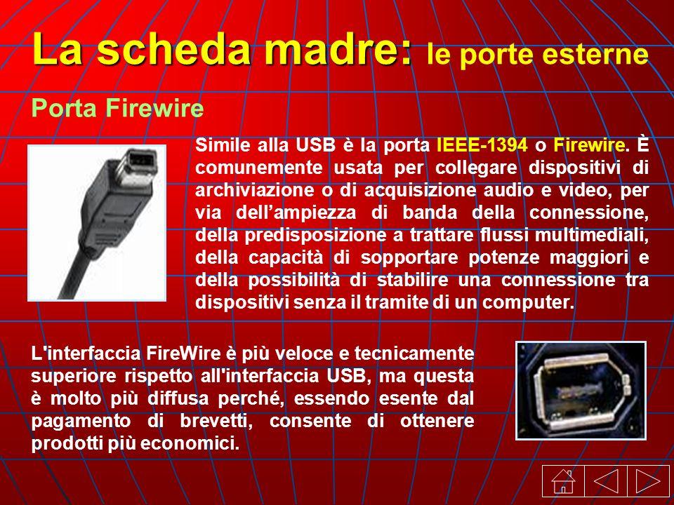 Simile alla USB è la porta IEEE-1394 o Firewire.