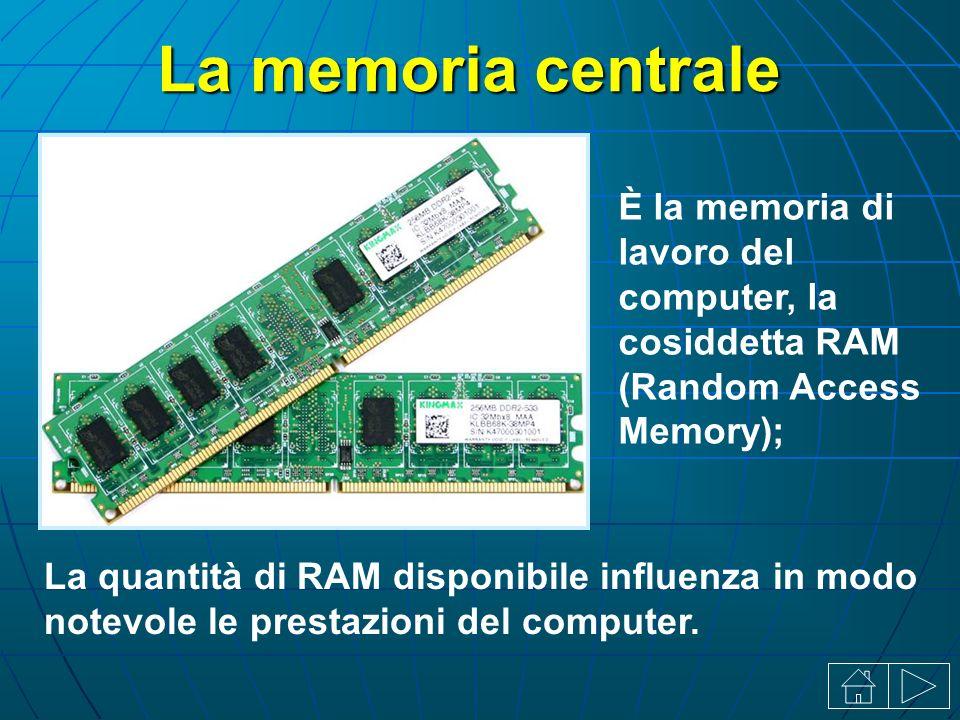La quantità di RAM disponibile influenza in modo notevole le prestazioni del computer.