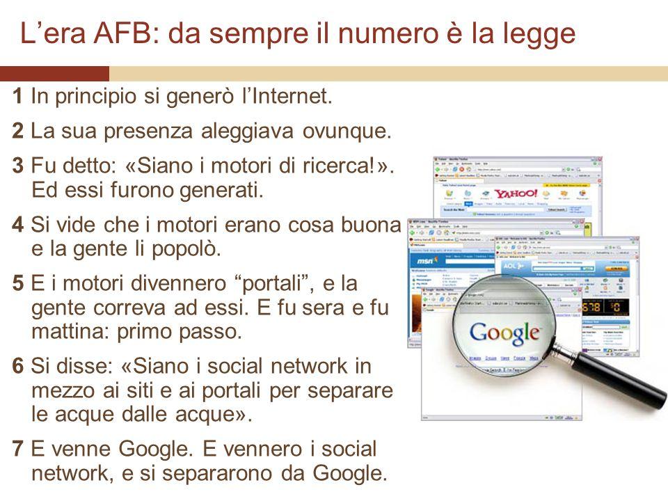 Lera AFB: da sempre il numero è la legge 1 In principio si generò lInternet.