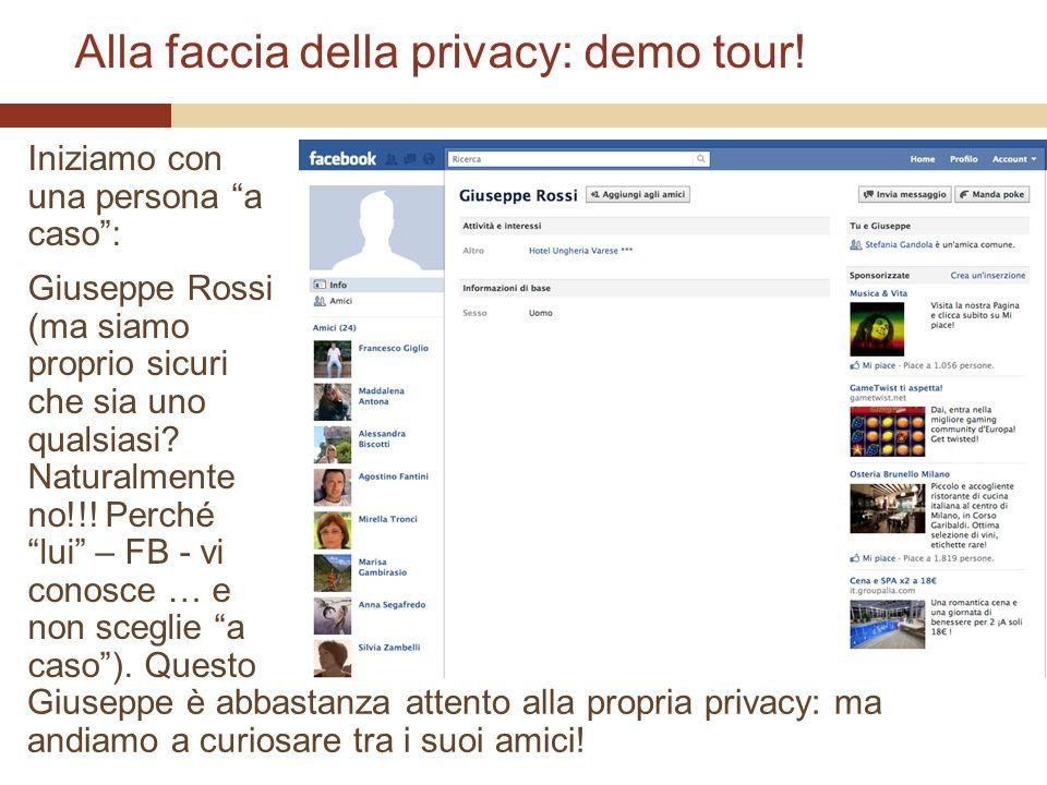 Alla faccia della privacy: demo tour.
