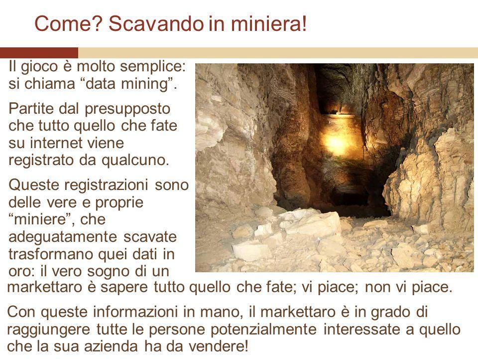 Come. Scavando in miniera. Il gioco è molto semplice: si chiama data mining.