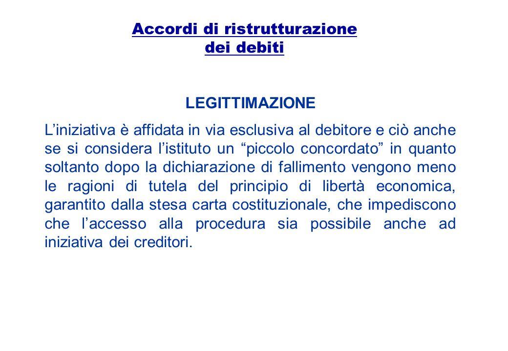 Accordi di ristrutturazione dei debiti IL PROCEDIMENTO Ai sensi dellart.