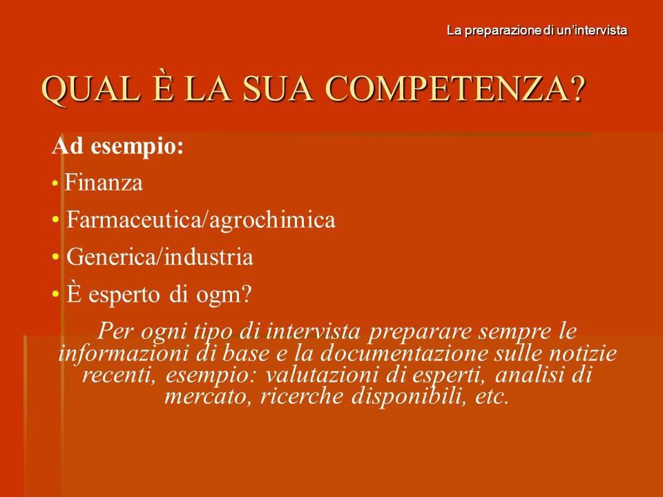 I FATTORI DI SUCCESSO PER UNINTERVISTA