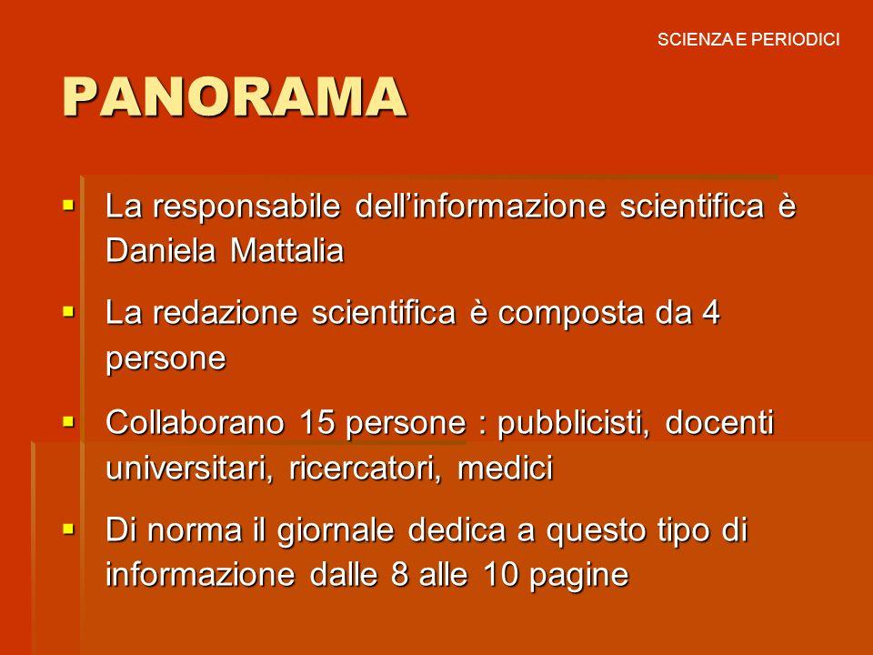 LINFORMAZIONE SCIENTIFICA SULLA STAMPA SPECIALIZZATA IN ITALIA