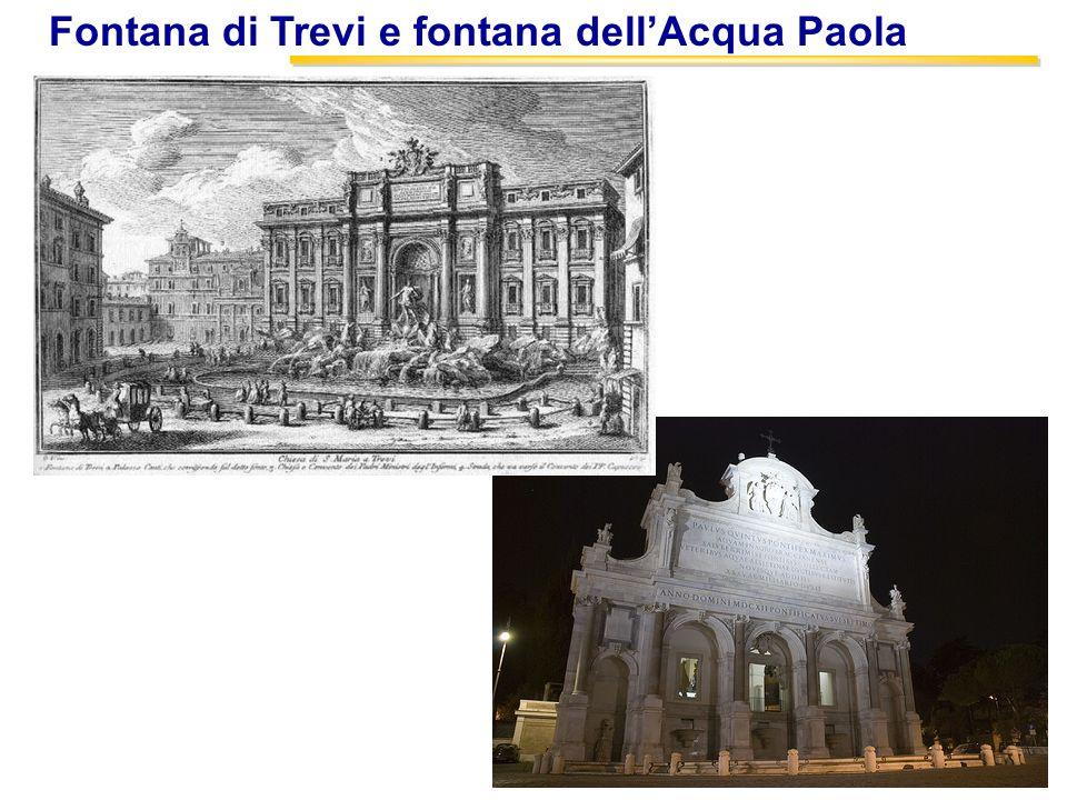 15 Fontana di Trevi e fontana dellAcqua Paola