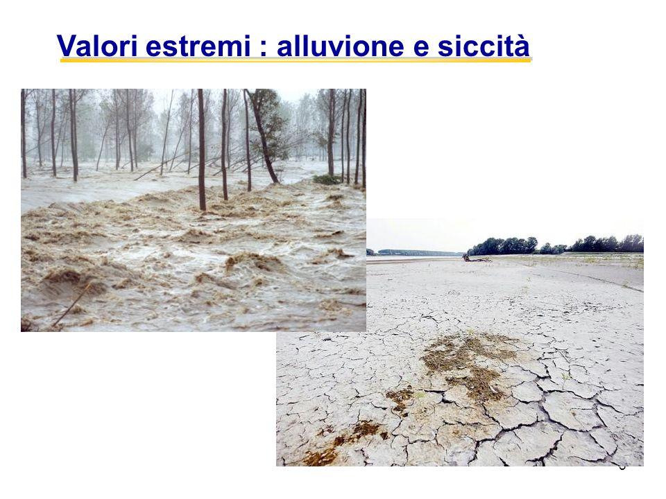 5 Valori estremi : alluvione e siccità
