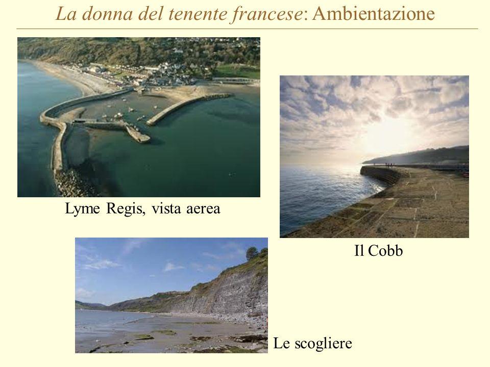 La donna del tenente francese: Ambientazione Lyme Regis, vista aerea Il Cobb Le scogliere