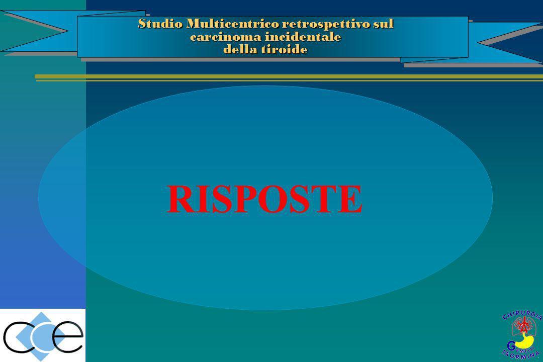 RISPOSTE Studio Multicentrico retrospettivo sul carcinoma incidentale della tiroide