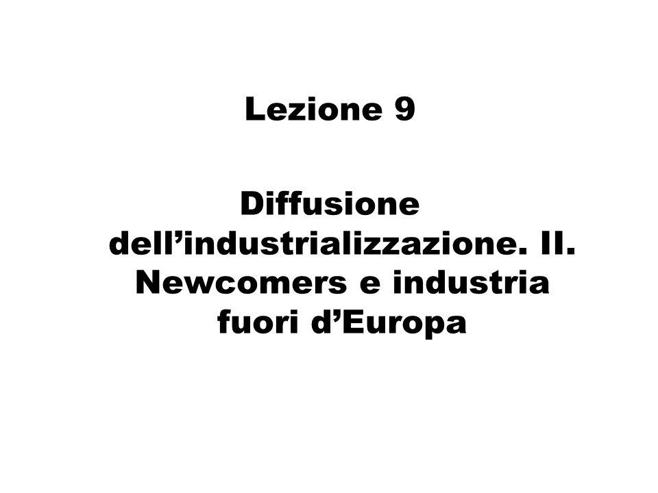 Lezione 9 Diffusione dellindustrializzazione. II. Newcomers e industria fuori dEuropa