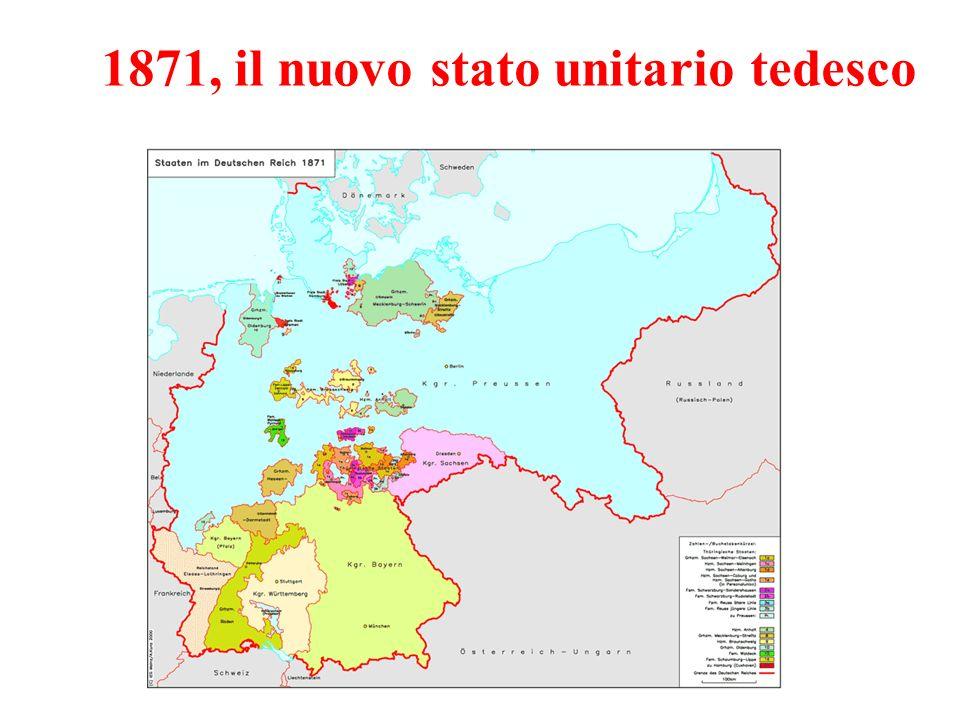 1871, il nuovo stato unitario tedesco