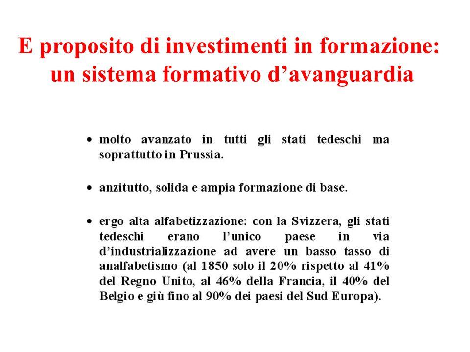 E proposito di investimenti in formazione: un sistema formativo davanguardia