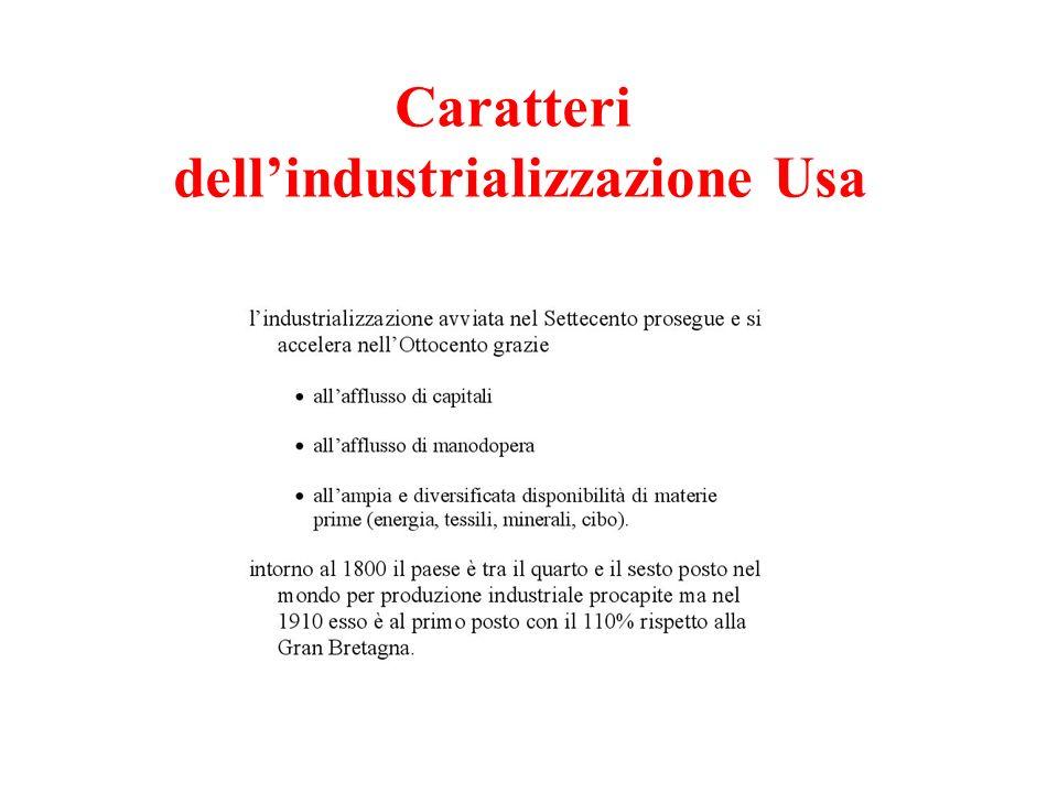 Caratteri dellindustrializzazione Usa