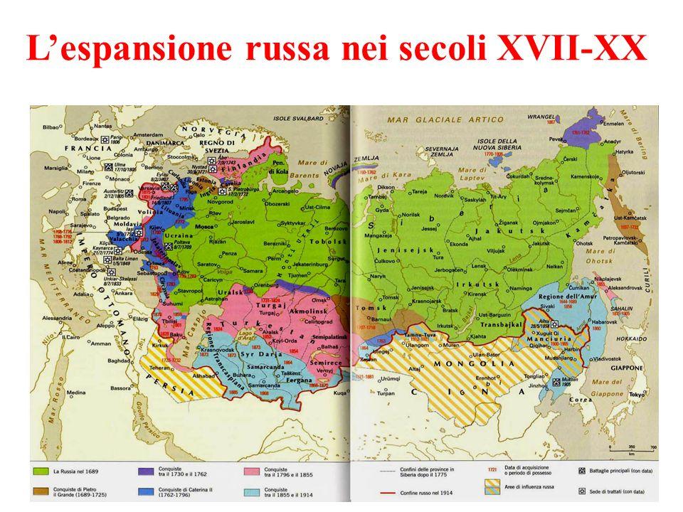 Lespansione russa nei secoli XVII-XX