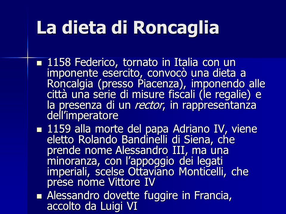 La distruzione di Milano 1162 Milano si ribella alle decisioni della dieta di Roncaglia e viene cinta dassedio.