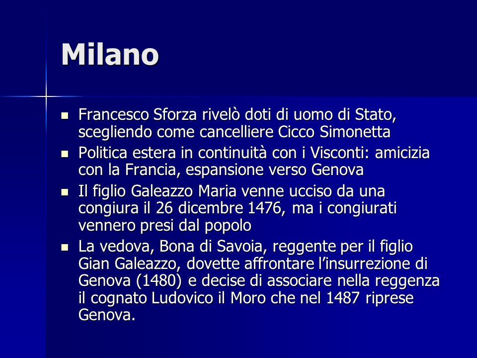 Milano Francesco Sforza rivelò doti di uomo di Stato, scegliendo come cancelliere Cicco Simonetta Francesco Sforza rivelò doti di uomo di Stato, scegl