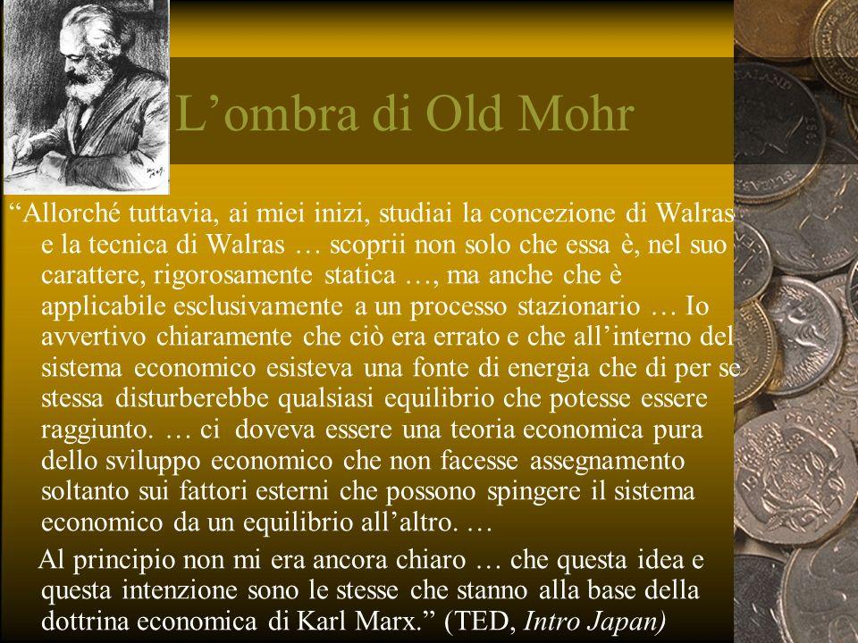 Lombra di Old Mohr Allorché tuttavia, ai miei inizi, studiai la concezione di Walras e la tecnica di Walras … scoprii non solo che essa è, nel suo car