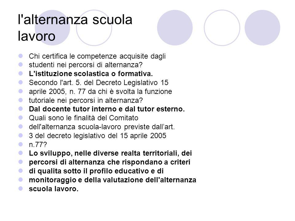 l alternanza scuola lavoro Nel caso di attività scuola-lavoro promosse dalle istituzioni scolastiche è necessario attivare una specifica posizione assicurativa presso lINAIL .