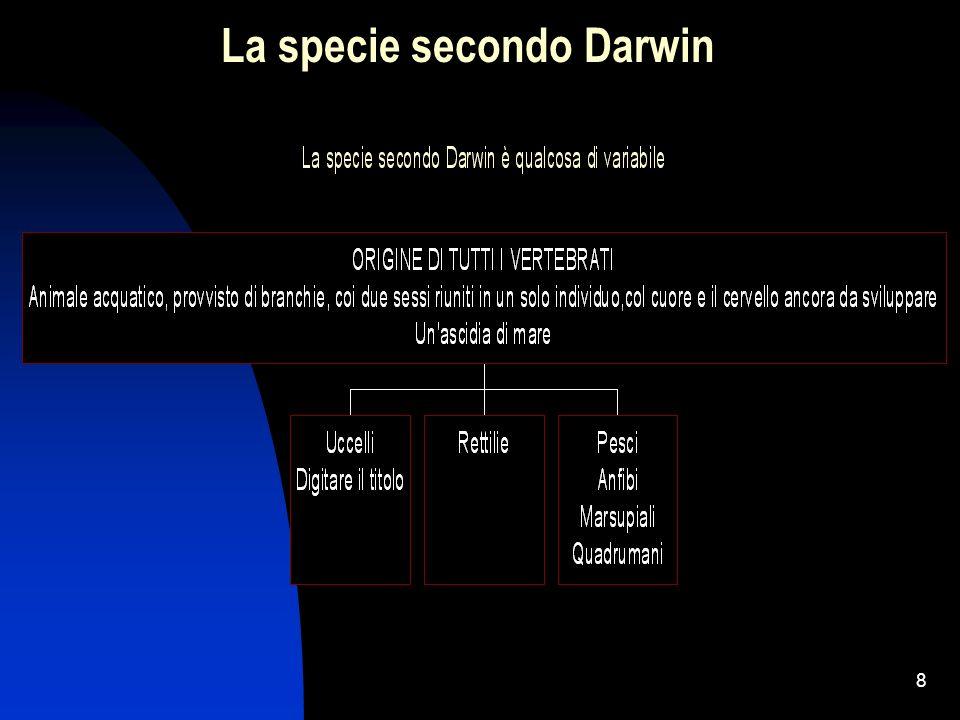 8 La specie secondo Darwin