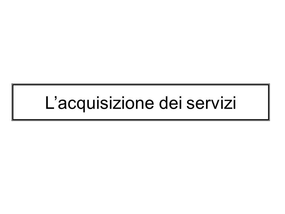 Lacquisizione dei servizi