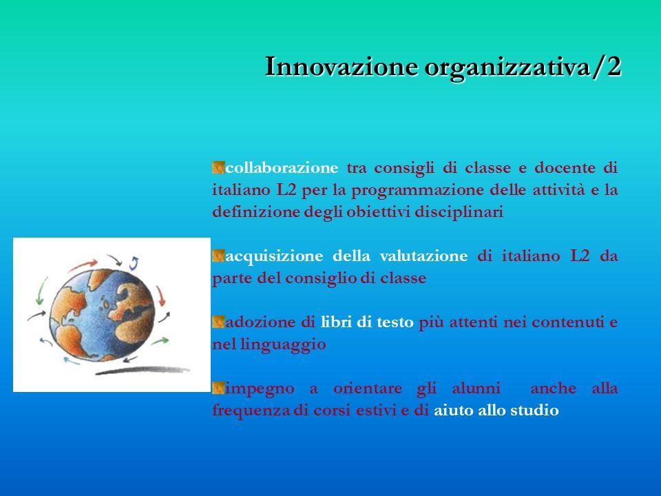 collaborazione tra consigli di classe e docente di italiano L2 per la programmazione delle attività e la definizione degli obiettivi disciplinari acqu