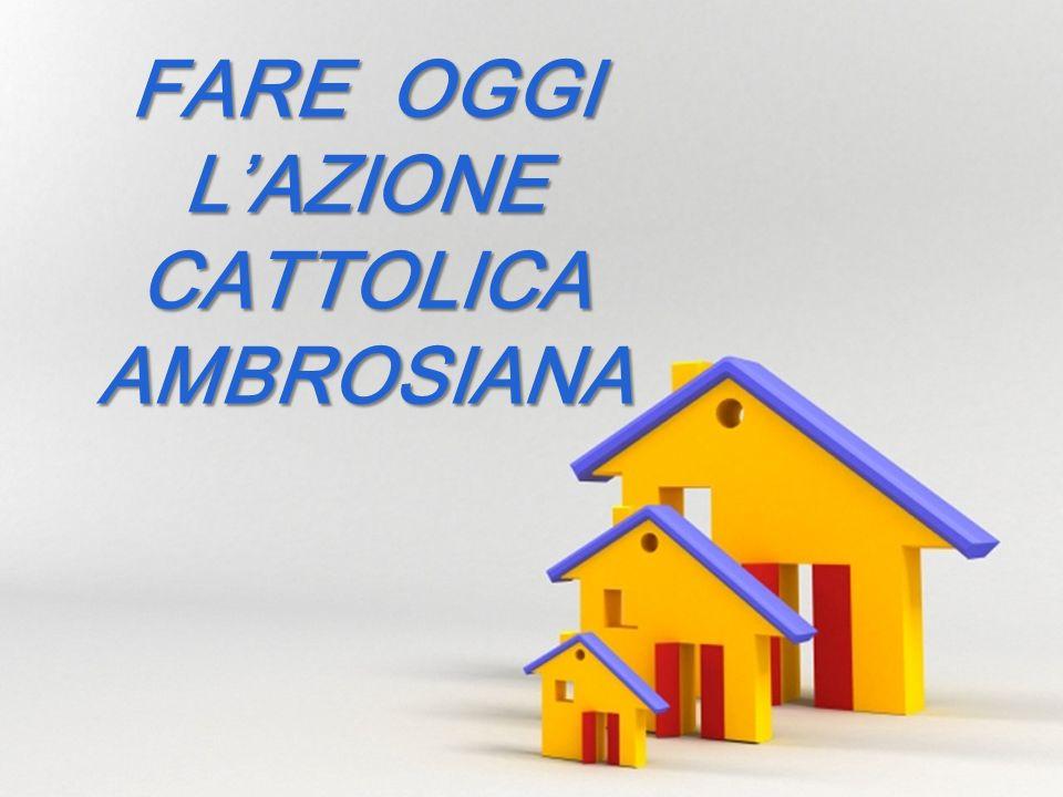 Page 2 LAzione Cattolica non è una sovrastruttura organizzativa, ma è ladesione ad un vincolo di fraternità, che alimentiamo con un cammino di fede condiviso, incarniamo in un progetto, proteggiamo con uno Statuto, sottoponiamo periodicamente ad una verifica democratica (Alici, 2008)