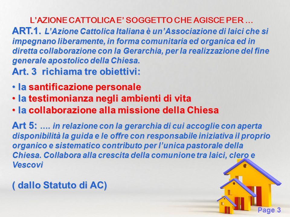 Page 3 LAZIONE CATTOLICA E SOGGETTO CHE AGISCE PER … ART.1.
