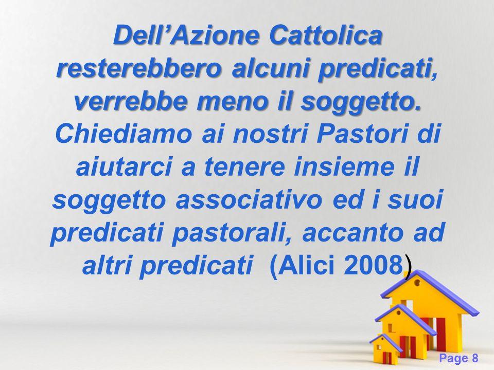 Page 8 DellAzione Cattolica resterebbero alcuni predicati verrebbe meno il soggetto.